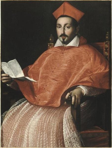 Don Pino Esposito - Ritratto del card. Scipione Borghese Caffarelli (Ottavio Leoni, XVII secolo) - Collezione card. Fesch (Ajaccio, Francia)