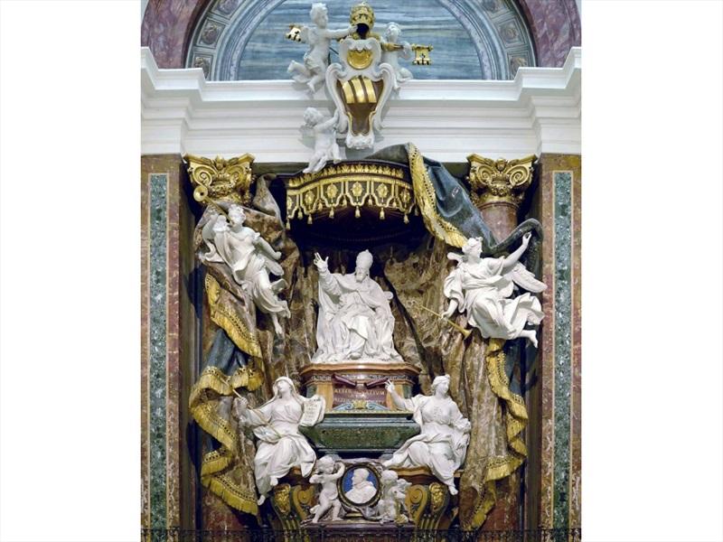 Don Pino Esposito - Monumento sepolcrale (Chiesa di Sant'Ignazio di Loyola, Campo di Marzio, Roma, 1709-1717, Pierre Le Gros)