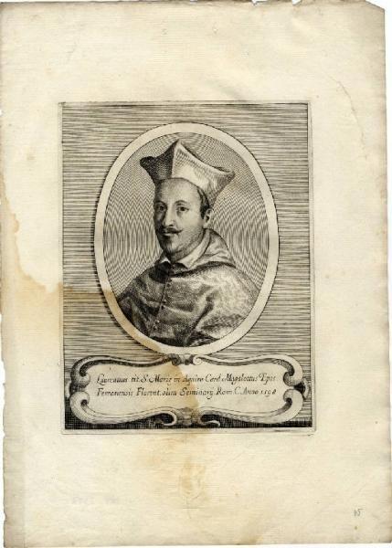 Don Pino Esposito - Lorenzo Magalotti, Ritratto a stampa anteriore al 1630, incisore: Leoni Ottavio (Monza, Raccolta civica di incisioni - Serrone Villa Reale)