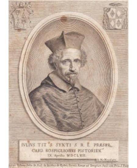 Don Pino Esposito - Incisione del 1657 di Giulio Rospigliosi, nei primi anni di segretariato
