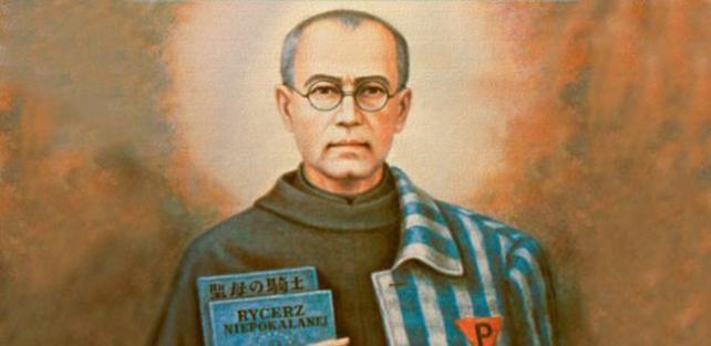 San Massimiliano Kolbe: simbolo della luce della fede cristiana che illumina le tenebre dell'umanita'