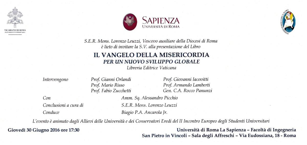 Presentazione de - Il Vangelo della Misericordia per un nuovo sviluppo globale - Don Pino Esposito